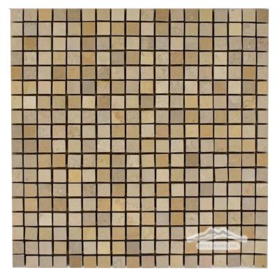"Beige Sand Limestone 5/8"" x 5/8"" Mosaic Polished"
