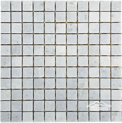 "Blue Celeste Quartzite 1"" x 1"" Mosaic Tumbled"