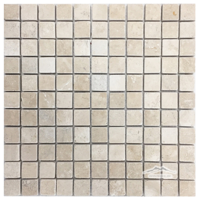 "Durango Travertine 1"" x 1"" Mosaic Tumbled"