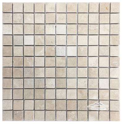 """Durango Travertine 1"""" x 1"""" Mosaic Tumbled"""