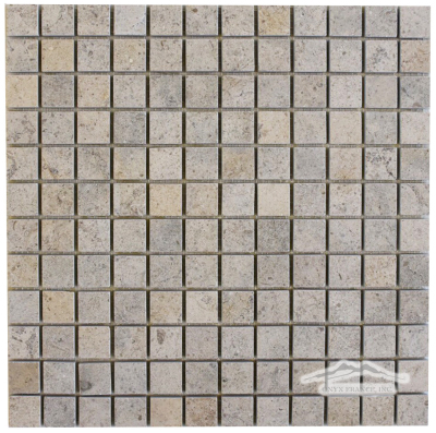 "Gascogne Blue/Beige Limestone 1"" x 1"" Mosaic Honed"