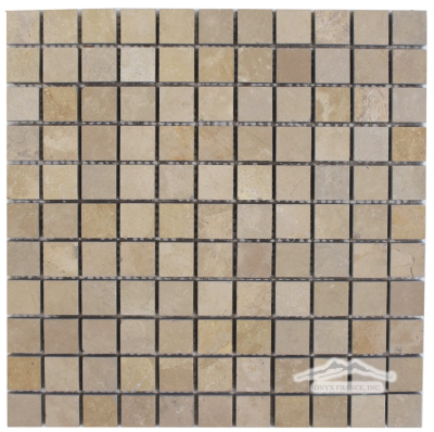 "Gold Lagoon Limestone 1"" x 1"" Mosaic Honed"