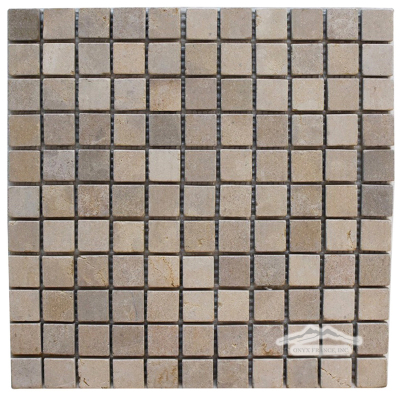 "Gold Lagoon Limestone 1"" x 1"" Mosaic Tumbled"