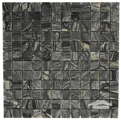 "Midnight Glacier Marble 1"" x 1"" Mosaic Honed"