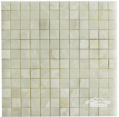 "White Persian Vanilla PREMIUM 1"" x 1"" Mosaic Polished"