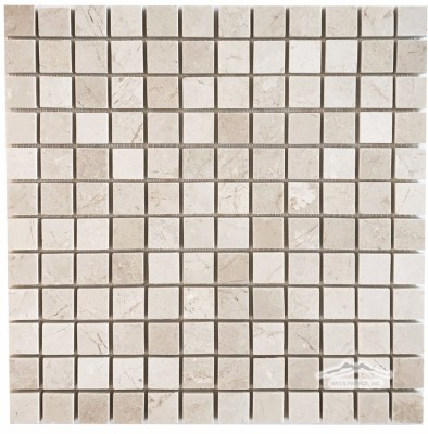 "Cream Marfil 1"" x 1"" Mosaic Polished"