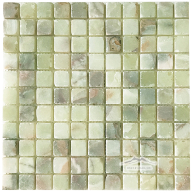 "Green Persian Pistachio 1"" x 1"" Mosaic Tumbled"