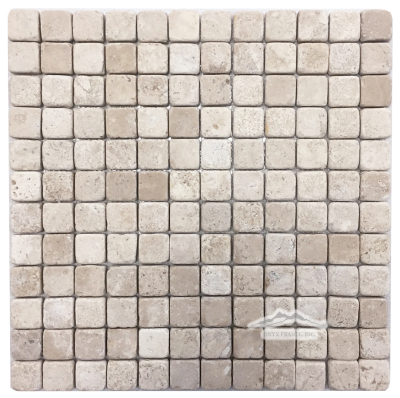 "Aztec Travertine 1"" x 1"" Mosaic Tumbled"
