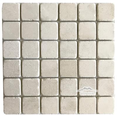 "Crema Lyon Limestone 2"" x 2"" Mosaic umbled"