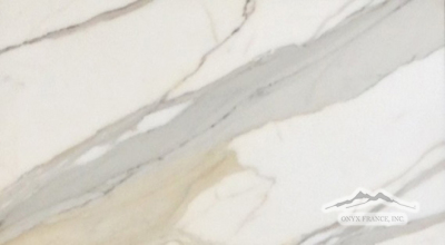 "Calacatta Gold Marble 12"" x 24"" Tile Polished & Honed"