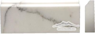 "Calacatta Gold Marble Base Molding: 5n"" x 12n"" x 1-1/4"" Polished"