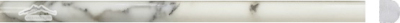 "Calacatta Gold Marble Bullnose (Pencil): 5/8"" x 12n"" Molding: Polished & Honed"