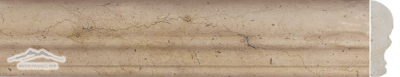 Gold Lagoon Limestone: Cornice Ogee (Chair Rail) 1/2'' x 12'' Molding Honed