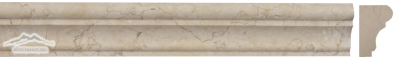 "Creama Orro Limestone France Ogee (Chair Rail) 1-3/4"" x 12"" Molding Honed"