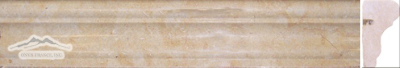 "Giallo Elena Limestone France Ogee (Chair Rail): 1-3/4"" x 12"" Molding Honed"