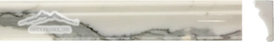 "Calacatta Gold Marble Special France Ogee: 2n"" x 12n"" Polished Molding"