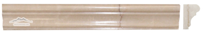 "Cream Elegant Marble France Ogee (Chair Rail) 1-3/4"" x 12"" Molding: Polished & Honed"