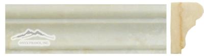 """Cream Elegant Marble France Ogee 1-3/4"""" x 6"""" Honed & Polished Molding"""