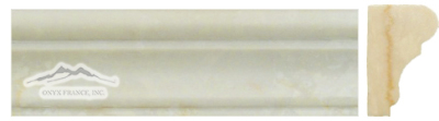 "Cream Elegant Marble  France Ogee (Chair Rail) 1-3/4"" x 6"" Molding Polished & Honed"