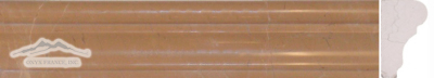 "Golden Beige Marble France Ogee (Chair Rail): 1-3/4"" x 12"" Molding Polished"