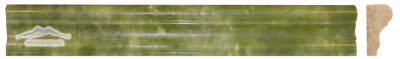 "Green Olivine France Ogee (Chair Rail) 1-3/4"" x 12"" Molding Polished"