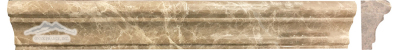 "Light Brown Emperador France Ogee 1-3/4"" x 12"" Polished Molding"