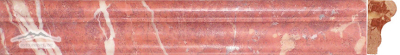 "Rojo Alicante Marble France Ogee 1-3/4"" x 12"" Honed Molding"