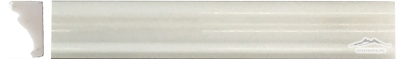 "White Silk Marble Special France Ogee (Chair Rail) 1-3/4"" x 12"" Molding Polished"