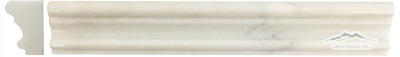 "White Statuary Calacatta Marble France Ogee (Chair Rail) 1-3/4"" x 12"" Molding: Polished & Honed"