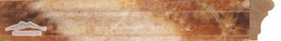 """Caramella Onyx France Ogee 1-3/4"""" x 12"""" Polished Molding"""