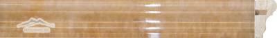 "Golden Honey Onyx France Ogee (Chair Rail) 1-3/4"" x 12"" Molding: Polished & Honed"