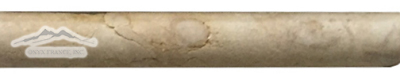 """Giallo Reale Marble Bullnose: 5/8"""" x 4"""" Molding Tumbled"""