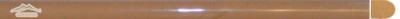 "Golden Beige Marble Bullnose: 5/8"" x 12"" Molding Polished"