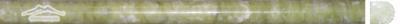 "Green Olivine Bullnose: 5/8"" x 12"" Molding Polished"