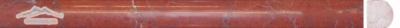 "Maroon Marble Bullnose: 3/4"" x 12"" Molding Polished"