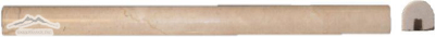 "Cream Marfil Bullnose (Pencil) 3/4"" x 12"" Molding Polished"