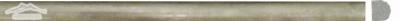 """Verde Laguna Marle Bullnose: 5/8"""" x 12"""" Molding Honed"""