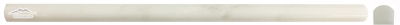 "White Statuary Calacatta Marble Bullnose (Pencil) 5/8"" x 12"" Molding: Polished & Honed"