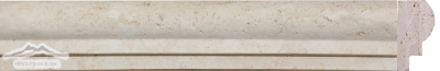 Beige Antique Travertine 2'' x 12'' Type 1 Ogee Honed Molding