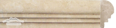 "Durango Travertine Special Ogee 2-3/8"" x 1-1/8"" x 12""  Molding Honed"