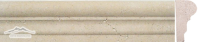 "Durango Travertine Grande Ogee 2-1/2"" x 1-1/8"" x 12"" Honed Molding"