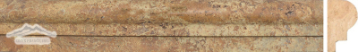 "Golden Antique Travertine Type 1 Ogee: 2"" x 12"" Honed Molding"