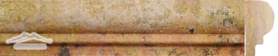 Peach Travertine Grande Ogee: 2-1/2'' x 1-1/8'' x 12'' Honed Molding