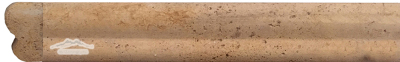 "Persian Gold Travertine Dune Ogee (Chair Rail) 2"" x 12"" Honed Molding"