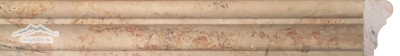 "Rosa Scabas Travertine France Ogee (Chair Rail) 1-3/4"" x 12"" Honed Molding"
