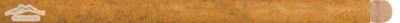 """Gold Pompeii Limestone Bullnose 5/8"""" x 12"""" Honed Molding"""