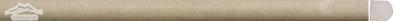 "Gold Lagoon Limestone: Bullnose (Pencil) 5/8"" x 12"" Molding"