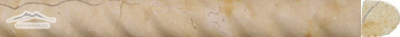 "Renaissance Bronze Limestone Rope: 1 "" x 12"" Honed Molding"