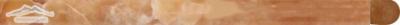 """Caramella Onyx Bullnose 5/8"""" x 12"""" Polished Molding"""