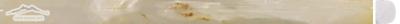 "White Persian Vanilla PREMIUM Bullnose: 5/8"" x 12"" Polished Molding"